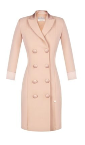 RINASCIMENTO CREPE SMOKING BLAZER DRESS NUDE