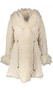 LEVINSKY QUILTED PARKA FUR LINED REVERSIBLE CREAM