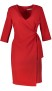 RINASCIMENTO  3/4 SLEEVE WRAP DRESS RED