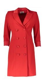 RINASCIMENTO CREPE SMOKING BLAZER DRESS RED
