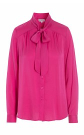 DEA KUDIBAL JESSICA SILK CREPE STRETCH BLOUSE PINK
