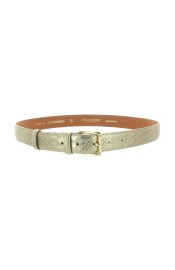MAISON BOINET LEATHER BELT GOLD SNAKE EFFECT