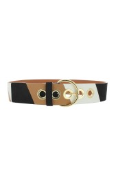 MAISON BOINET LEATHER BELT COWHIDE TRICOLOR