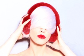 DEAUVISION RED  MINK EARMUFFS