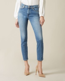 7 FOR ALL MANKIND ROXANNE ANKLE POINT WITH STUDDED WAISTBAND