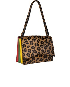 SARA BATTAGLIA LEO COWHIDE DELPHINE SHOULDER BAG