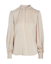 DEA KUDIBAL STACY SILK STRETCH BLOUSE CINNAMON
