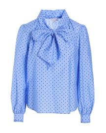DEA KUDIBAL LEINS BOW BLOUSE DOT BLUE