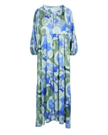 DEA KUDIBAL HARPER SILK STRETCH DRESS KHANGA GREEN