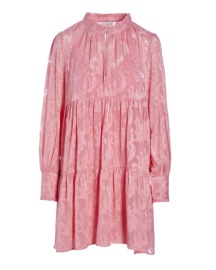 DEA KUDIBAL KIRA SILK STRETCH JACQUARD DRESS ROSE
