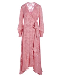 DEA KUDIBAL VIVIAN SILK STRETCH JACQUARD DRESS ROSE