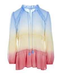 DEA KUDIBAL FLORIS SILK CREPE BLOUSE RAINBOW