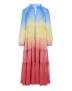 DEA KUDIBAL FELINA SILK CREPE DRESS RAINBOW