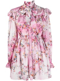 MSGM FLORAL RUFFLE DRESS