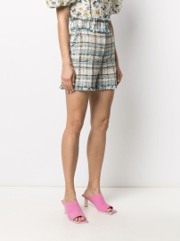 MSGM HIGH RISE COTTON BOUCLE TWEED SHORTS