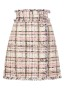 MSGM CHECK PINK TWEED A LINE SKIRT