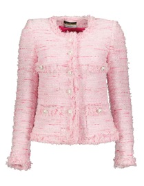 MARUSCHKA DE MARGO PINK TONES TWEED JACKET WITH SILVER BUTTONS