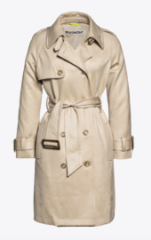 BEAUMONT FAUX SUEDE TRENCH COAT