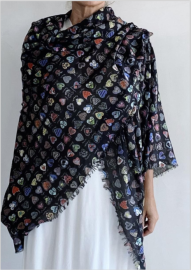 FALIERO SARTI SMALL HEARTS SHAWL