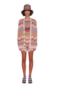 MISSONI KNITTED ZIG ZAG CARDIGAN