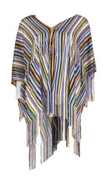 MISSONI KNITTED RAINBOW PONCHO SWEATER