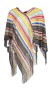 MISSONI KNITTED RAINBOW PONCHO