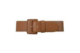 MAISON VAINCOURT TAN LEATHER CORSET BELT 6CM WIDE