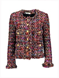 MARUSCHKA DE MARGO LUXE MULTI COLOUR TWEED JACKET
