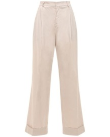 ACHEVAL PAMPA GARDEL HIGH WAIST COTTON SATIN PANTS