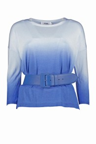 NOTSHY BLUE DEGRADE SWEATER WITH 3/4 SLEEVES