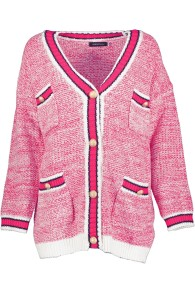 PARIS PICKED PINK CHANEL STYLE LONG CARDIGAN