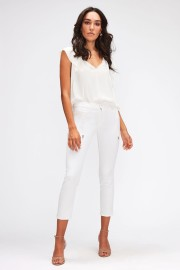 7 FOR ALL MANKIND ROXANNE ANKLE WHITE