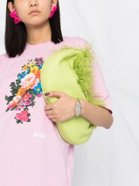MSGM OVERSIZE FLORAL PINK T-SHIRT