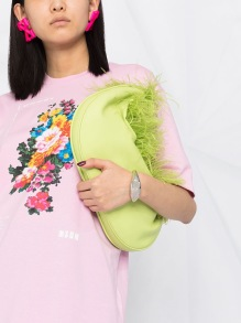 MSGM OVERSIZE FLORAL PINK T-SHIRT