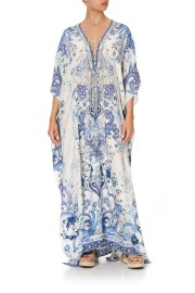 CAMILLA SILK LACE UP KAFTAN HIGH TEA