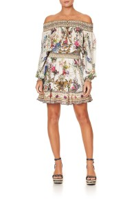 CAMILLA SILK OFF SHOULDER SHORT DRESS BY THE MEADOW