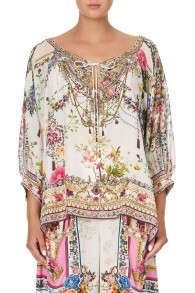 CAMILLA SILK RAGLAN SLEEVE BLOUSE BY THE MEADOW