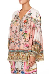 CAMILLA SILK BLOUSON BLOUSE WITH NECK TIE PARTY IN THE PALACE