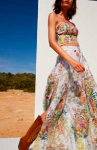 CHARO RUIZ KAREEN LONG SKIRT BOTANICAL