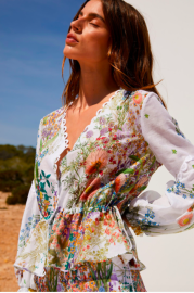 CHARO RUIZ CAROLYN BLOUSE BOTANICAL
