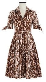 SAMANTHA SUNG DIOR LEOPARD BEIGE AUDREY DRESS IN COTTON STRETCH