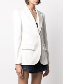 PHILOSOPHY DI LORENZO SERAFINI WHITE STRETCH COTTON TAILORED BLAZER