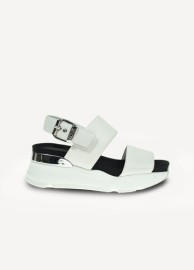 RUCOLINE ITALY R-Evolve 4091 AVION CERVINO 6CM HEEL WHITE LEATHER SANDAL