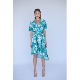 RAVN RAVN PAISLEY GREEN FLORAL DRESS