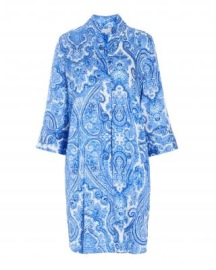 DEA KUDIBAL KAMILLE SILK STRETCH DRESS PAISLEY BLUE