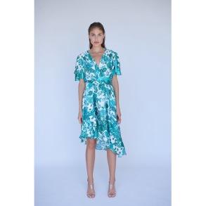 RAVN RAVN PAISLEY GREEN FLORAL DRESS