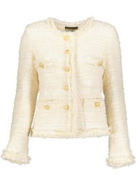 MARUSCHKA DE MARGO TWEED JACKET CREAM WITH GUILDED BUTTONS