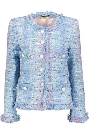 MARUSCHKA DE MARGO TWEED JACKET PASTEL BLUE OMBRE