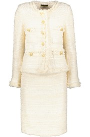 MARUSCHKA DE MARGO TWEED SUIT CREAM WITH GUILDED BUTTONS