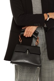 SARA BATTAGLIA BLACK PARIS LEATHER BAG